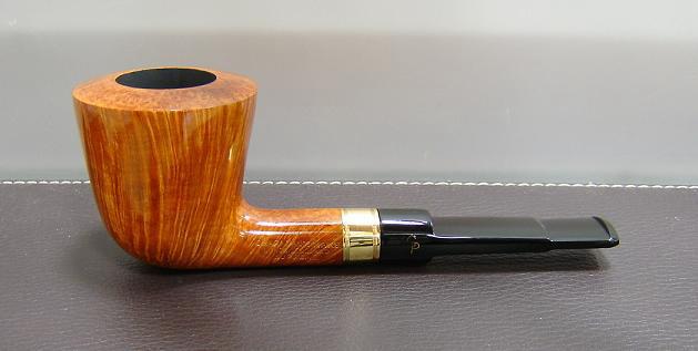 Charatan supreme 18k gold band straight grain 1 for Golden fish pipe