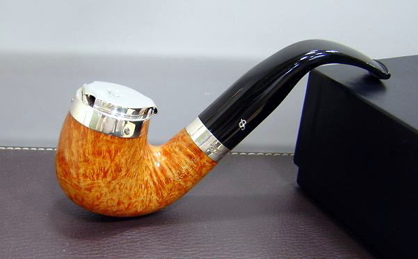 Peterson supreme silver cap with lid 220 fish tail for Golden fish pipe